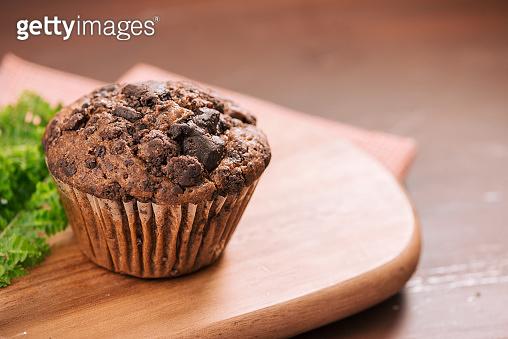 chocolate walnut muffin
