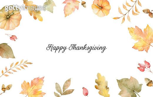 Watercolor autumn vector background