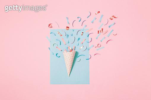 Birthday hat with confetti