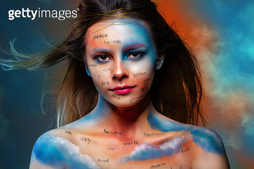 Model with creative make-up