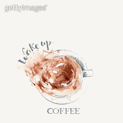 Hand drawn coffee backgrounds