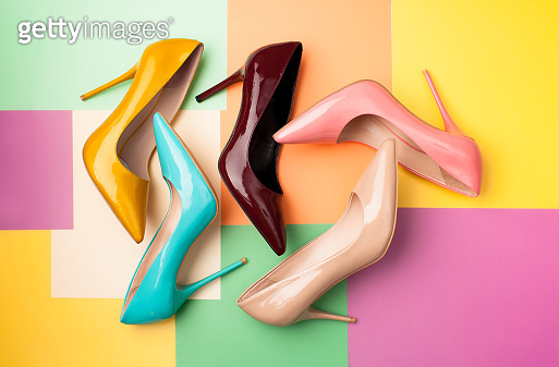 Colorful high heels