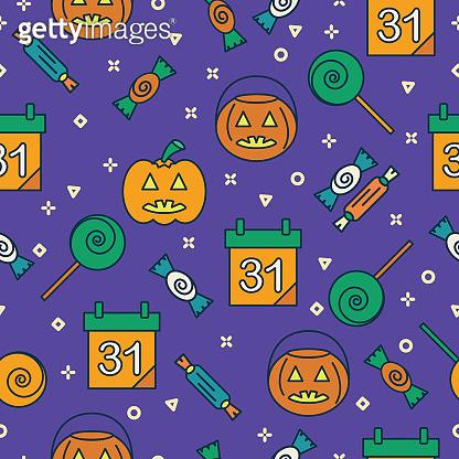 Cute Seamless Halloween Patterns
