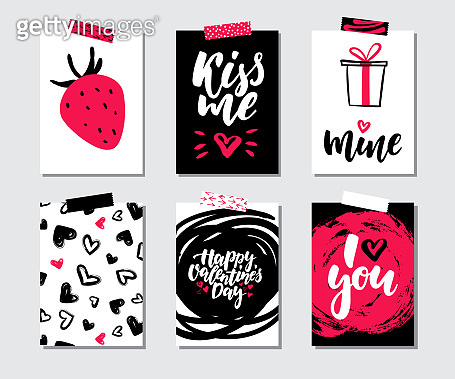 Valentines day with lettering