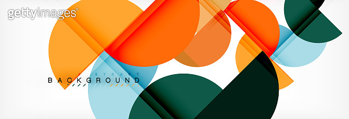Semi circle abstract background