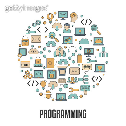 Coding and programming icon