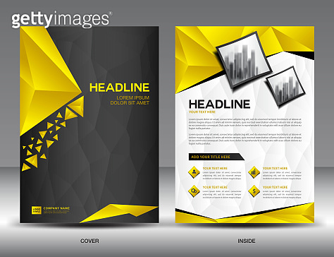 Business brochure flyer template vector illustration black and business brochure flyer template vector illustration black and yellow cover design annual report cover spiritdancerdesigns Image collections
