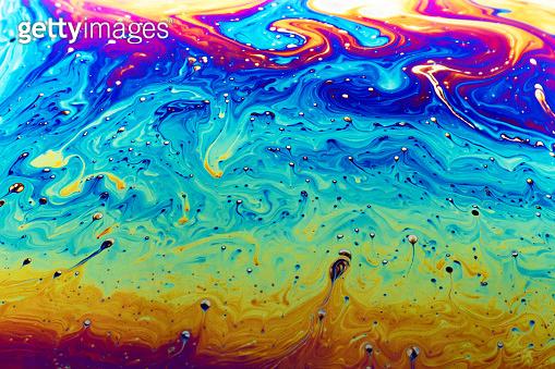 Soap bubble closeup