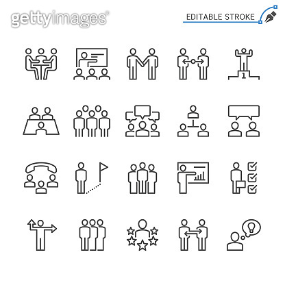 line icons - people