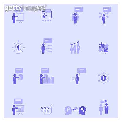 Purple background line icon