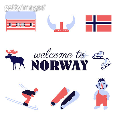 Northern Europe illustlation