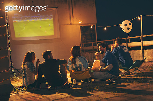 Friends and football