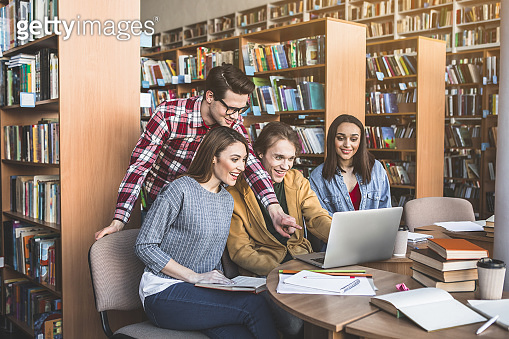 student, library