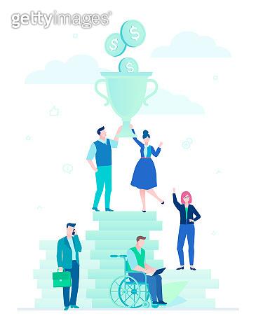 Flat design style business illustration