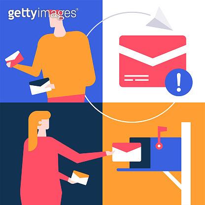 processing information illustration