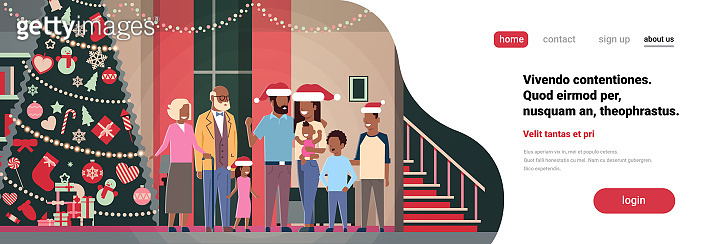 Christmas illustration templete