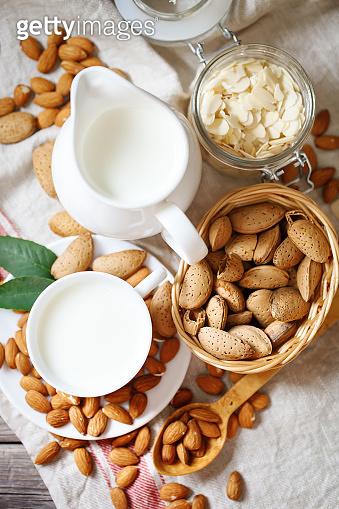 Almond and almond milk