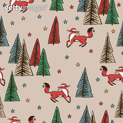 Christmas Background Of Evergreen Trees