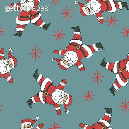 Santa Claus Retro Hand Drawn