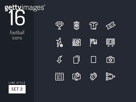 football linear icons