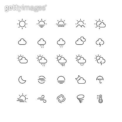 Set of 25 line icon