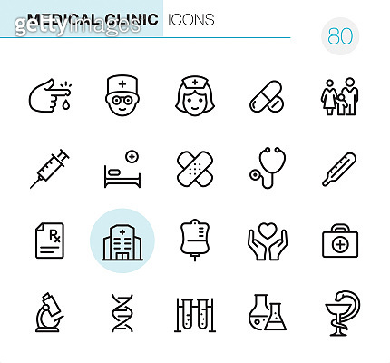 Medical & Healthcare line icon set