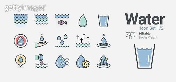 Icon set - water