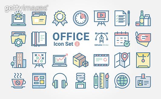 Icon set - Web SEO & Office