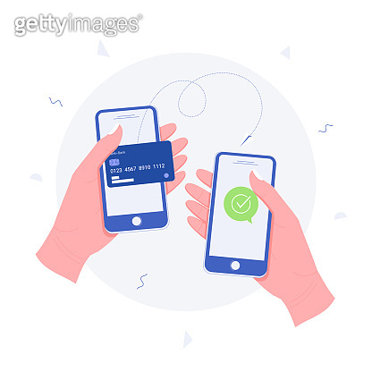 Mobile phone flat illustration