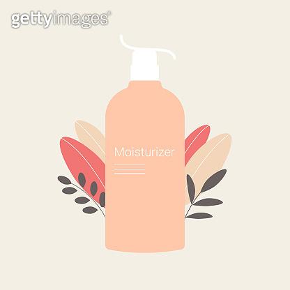 Cosmetic flat illustration