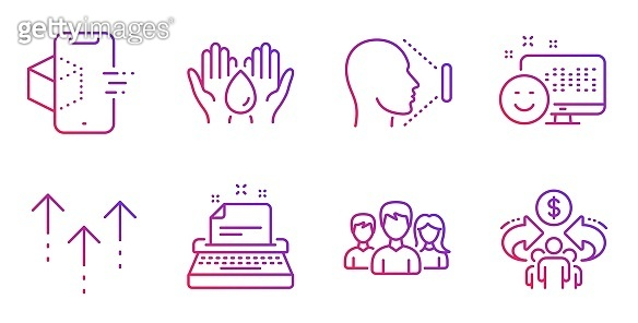 Purple line icon set