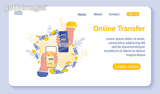 Online transfer concept