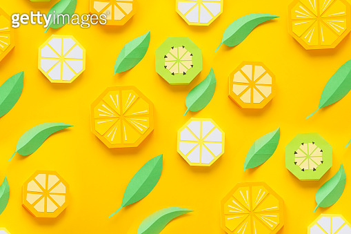 Fruit made of paper