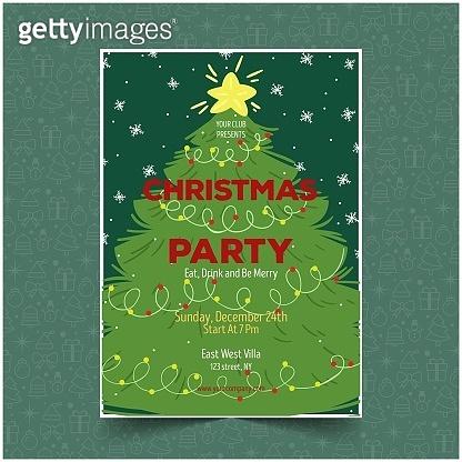 크리스마스 파티 포스터 109
