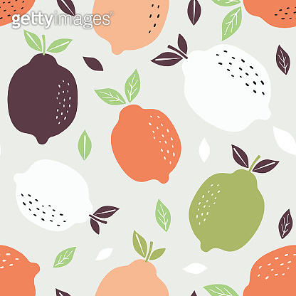 Pattern background with lemons