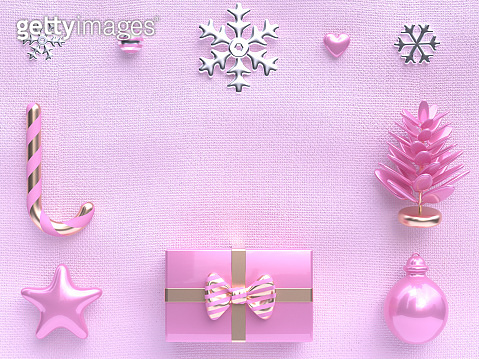Christmas concept 3d rendering