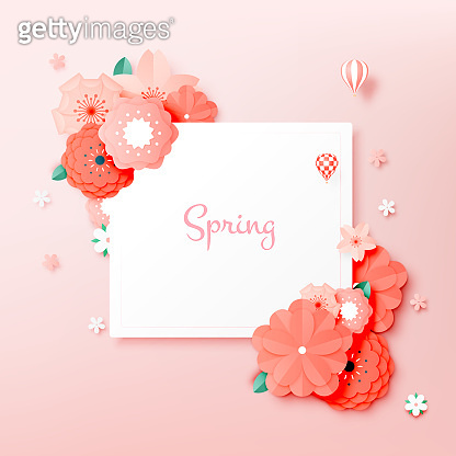Beautiful floral paper art