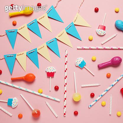 Colorful happy birthday decor