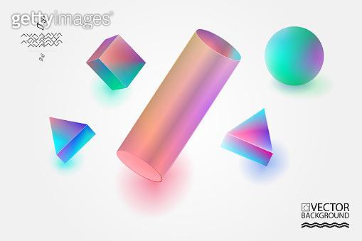 Geometric trendy illustration background