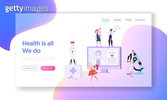 Health concept landing page