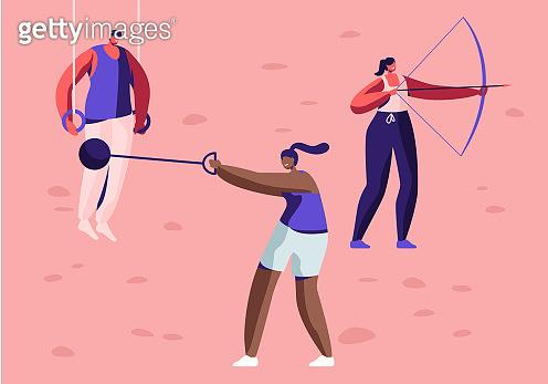 Flat people illustration
