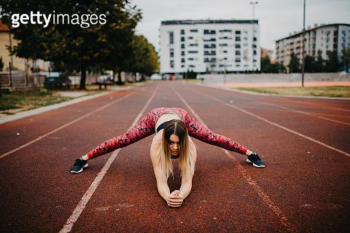 Fit female sportswoman