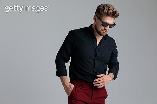 Motivated fashion man