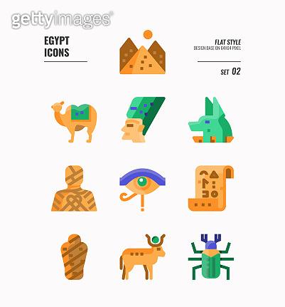 남아메리카,이집트 아이콘 세트