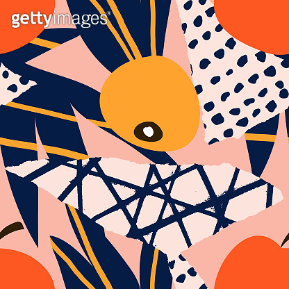 Abstract collage pattern