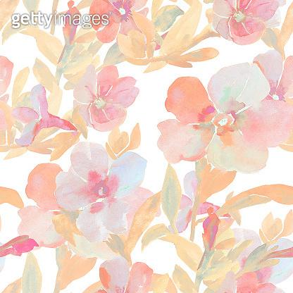 Summers flowers pattern