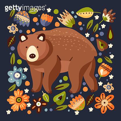 Animal forest illustration