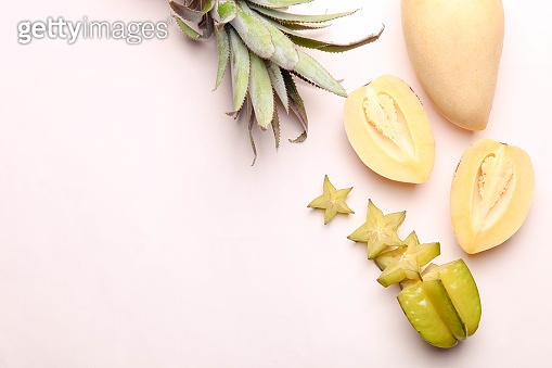 Ripe exotic fruits