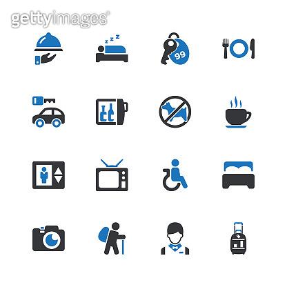 Blue point icon set