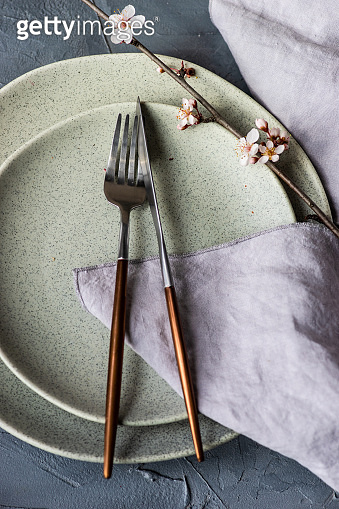 Spring table setting